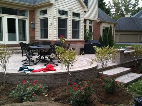 Raised Patio Design Raised Patios Traditional Patio Detroit By Apex Landscape And Brick Services Llc
