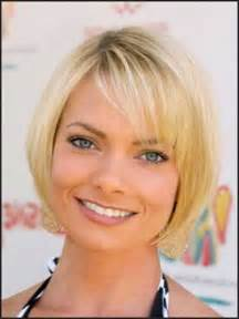chin length bobs for thin hair celebrities with short hair and bangs short hairstyles