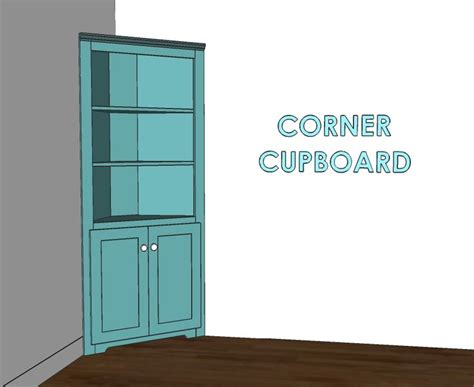 building plans for corner cabinet woodworking projects