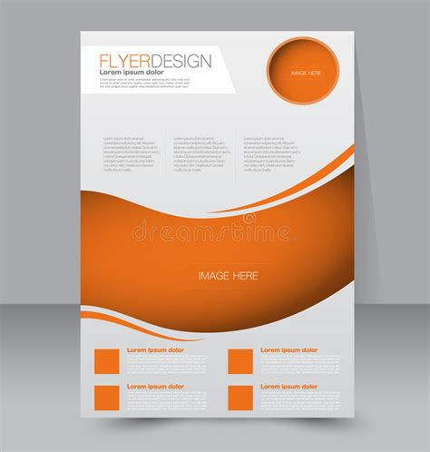 Flyer Template Business Brochure Editable A4 Poster Stock Vector Illustration Of Editable Free Editable Flyer Templates