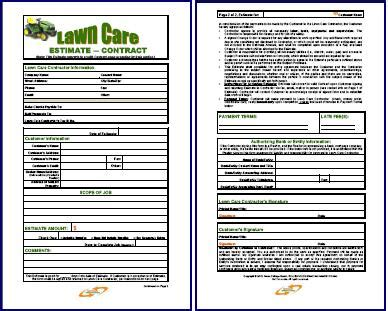 lawn mowing bid template good handyman business estimate form free