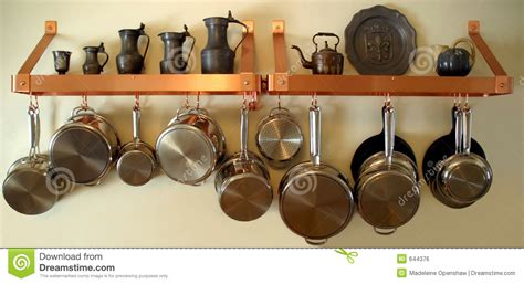 Decorative Hooks For Hanging Pots And Pans Hanging Pots And Pans 3 Royalty Free Stock Image Image