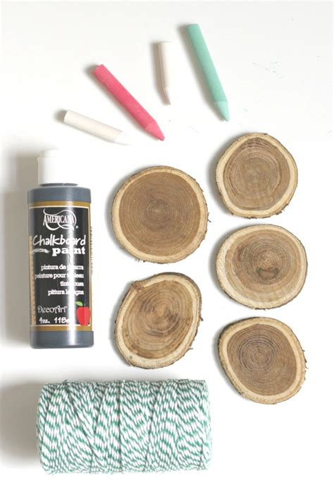 chalkboard paint wood slices wood slice chalkboard ornaments organize and decorate