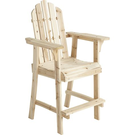 stonegate designs tall wooden adirondack chair inl   inw  inh model ss csn
