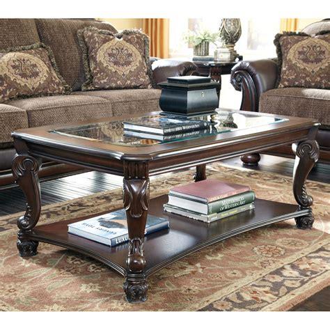 norcastle rectangular cocktail table signature design by norcastle brown rectangular