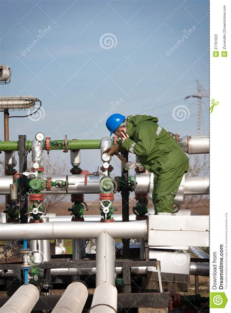 Production Operator by Gas Production Operator Stock Photography Image 27761922
