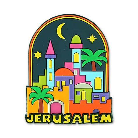 Souvenir Dunia Magnet Kulkas Israel Jerusalemme jerusalem 3d magnet rubber magnet featuring jerusalem skyline at