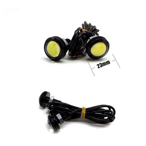 Led Eagle leadtops 2pcs 23mm eagle eye led car drl fog daytime running light automobiles accessoires 12v