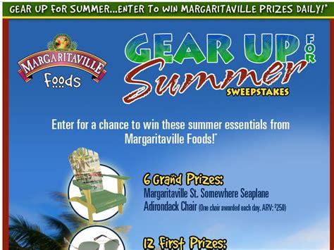 Memorial Day Sweepstakes - margaritaville gear up for summer memorial day sweepstakes