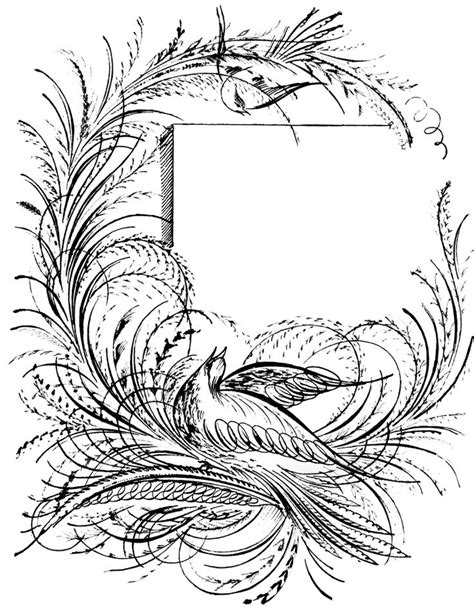 Description A border of birds. | Vintage Clip Art