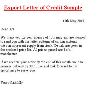 Business Letter Templates Credit letter of credit definition with examples cover letter templates