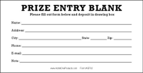 2 8 quot x 5 5 quot stock prize entry forms from admit one