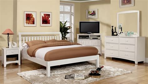 corry cm7923wh 5pc bedroom set in white w options