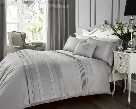 sparkle bedding silver colour stylish diamante glamour glitzy duvet quilt cover luxury sparkle bedding