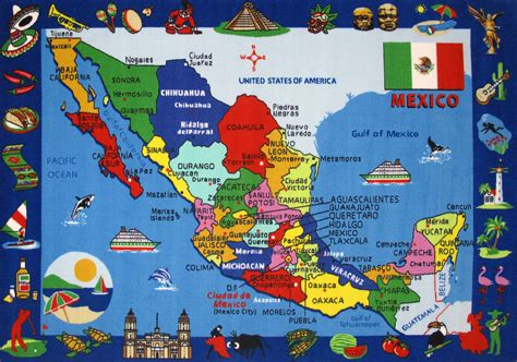 tourist map of mexico large detailed tourist illustrated map of mexico mexico