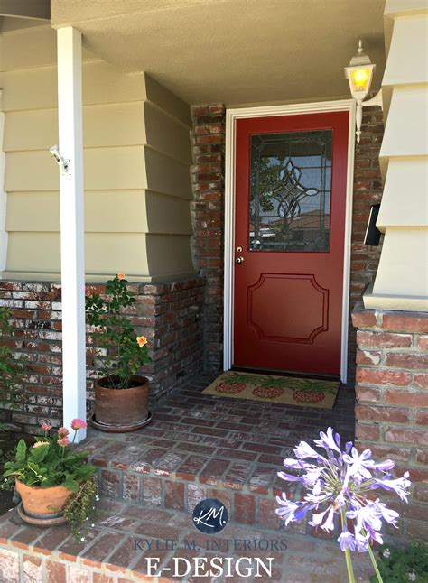 painting wood siding exterior red front door paint colors brick exterior with greenbrier beige painted wood siding