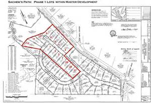 Site Plans Master Site Plan With Phase 1 Lots Sachems Path Project