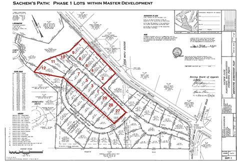 site plan master site plan with phase 1 lots sachems path project