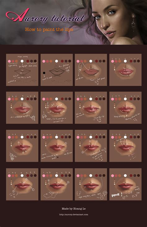 watercolor mouth tutorial painting lips by aurory on deviantart