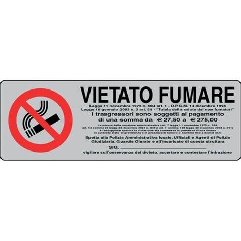 film it vietato cartelli adesivi pubblicentro vietato fumare con legge