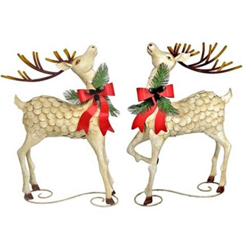 large iron christmas reindeer set of 2 only 1 199 99 at
