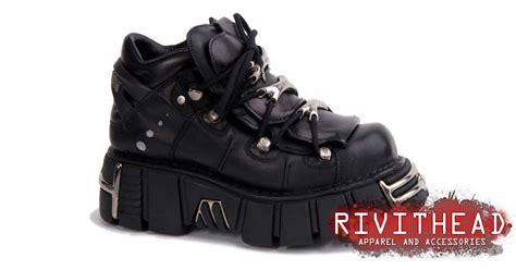 Wedges Polos M106 new rock m106 s1 black platform shoes
