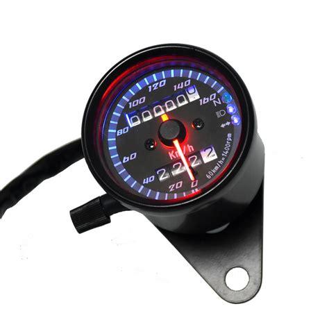 Spd Speedometer Custom Led universal motorcycle speedometer odometer ᐅ atv bike scooter backlit ộ ộ dual