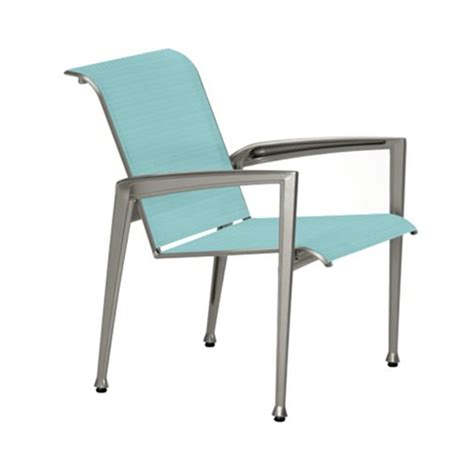 Veer Sling Patio Dining Chair With Aluminum Frame Aluminum Sling Patio Chairs