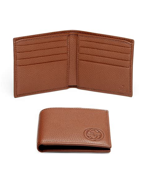 gucci leather wallet gucci soho leather bifold wallet in brown for lyst