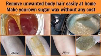 get rid of hair easily at home sugar