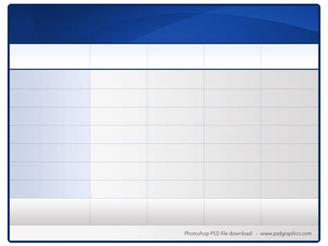 blank table template blank table chart template