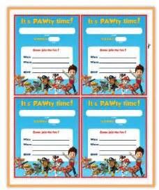printable birthday invitations paw patrol paw patrol free printable invite birthdayideas