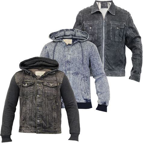 Acid Jaket mens acid wash denim hooded jackets by brave soul ebay