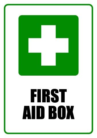 aid poster template aid box sign template how to design a aid box