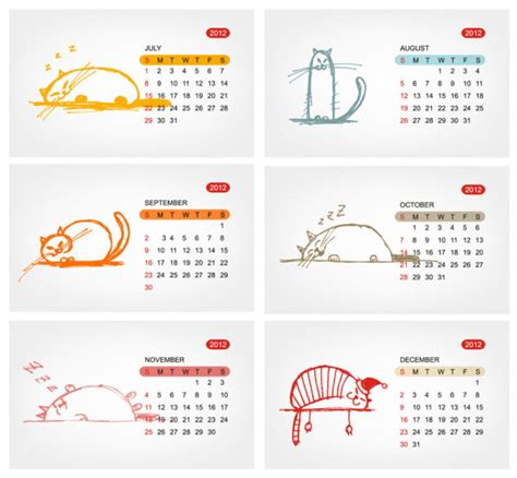 2012 calendar template 01 download free vectors graphic