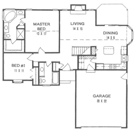 1200 sq ft house floor plans traditional style house plan 2 beds 2 baths 1200 sq ft