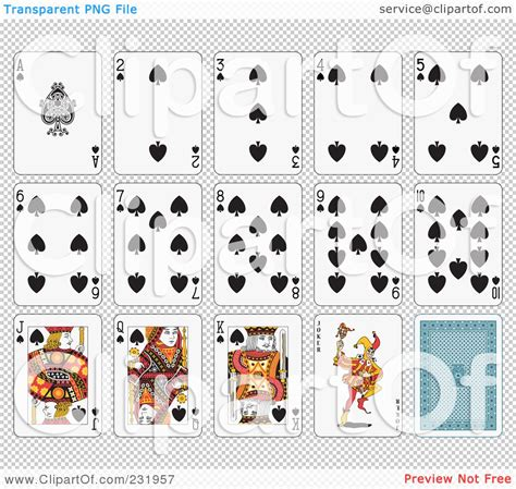 printable playing cards sheets printable playing cards clipart