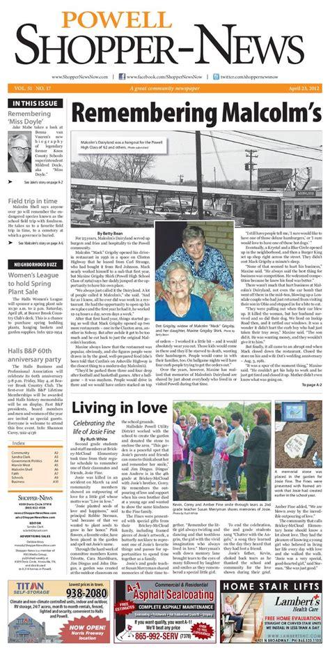 Shopping News by Powell Shopper News 042312 By Shopper News Issuu