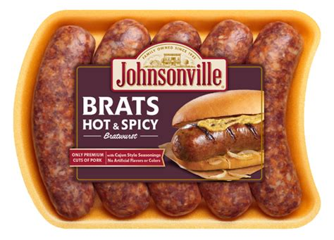 brats sausage hot n spicy brats johnsonville