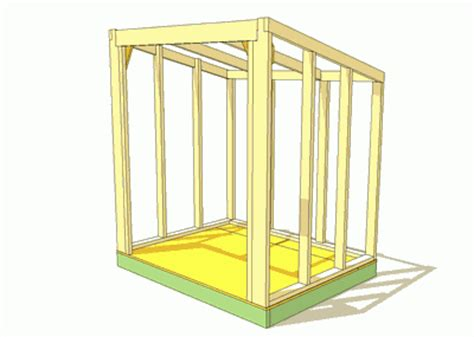 Shed Roof Frame by Building A Shed