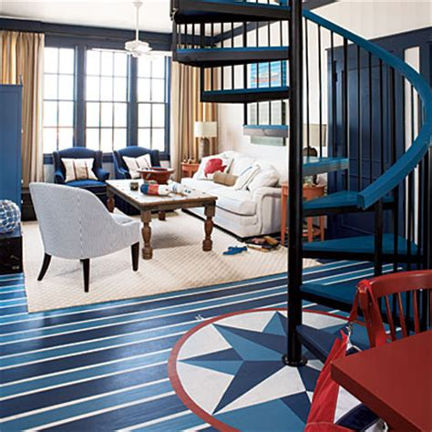 Nautical Floor L by Significant Design Pretty Painted Floors Coastal Living