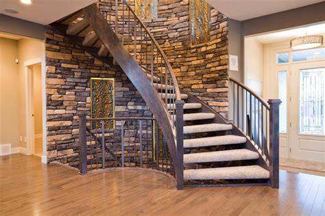 Garage Ideas Curved Staircase White Railing Stairs And Kitchen Design