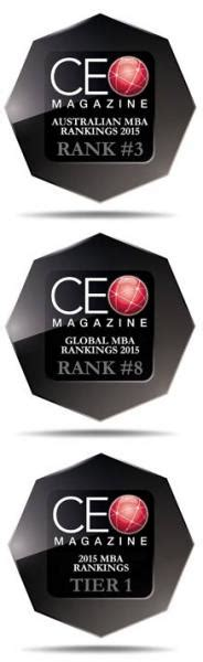 Ceo Magazine Top 20 Mba Rankings 2015 by Vu Mba Ranked Top 3 In Australia