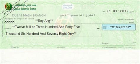 sharia bank accounts cheque writing printing software for united arab emirates