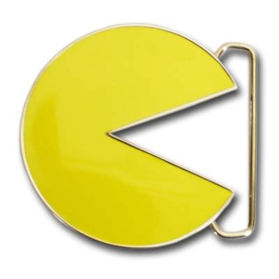 Pacman Belt Buckle And Tie From The Ex Boyfriend Collection by Pac Nintendo Yellow Icon Chrome Belt Buckle