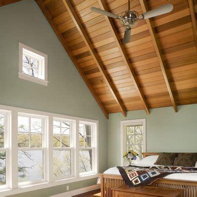 room  cedar paneled ceiling painted walls