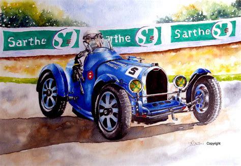 Bugatti Painting Bugatti 35b Painting By Dalton