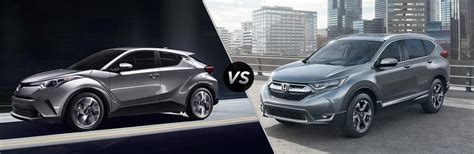2017 Vs 2018 Crv by 2018 Toyota C Hr Vs 2017 Honda Cr V
