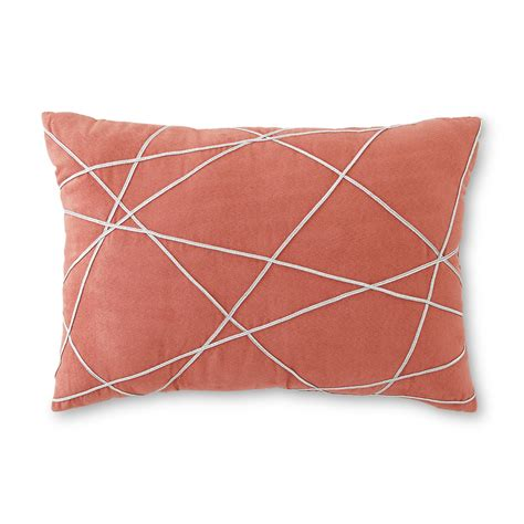 Rectangular Accent Pillows by Rectangular Decorative Pillow Metallic Stripes