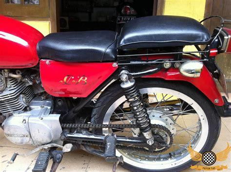 modifikasi klasik honda cb merah unik motor tuo